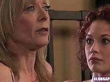 Redhead Justine Joli and MILF Nina Hartley Going Downtown! - lingerie