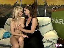 This first time girl on girl action cums complete with one blonde, one brunette, some great ink and a purple dildo. Add to that some moans, groans and some pussy licking and youve got yourself a real lesbian round-up sure to please every sapphic see. Hot