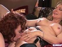 Redhead Justine Joli and MILF Nina Hartley Going Downtown! - dildo lingerie