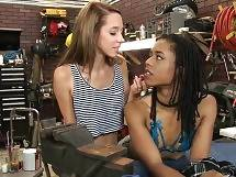 The sexy pair of ladies finishes this segment of the scene by 69ing and forgetting all about the camera... - KIRA NOIR AND LOLA HUNTER GO UNDER THE HOOD