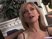 Nina Hartley, Syd Blackovich, and a Strap On! - blonde brunette