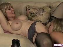 College-Aged Nicole Ray Seduces MILF Nina Hartley - blonde